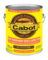 Cabot Cordovan Brown Low-VOC Semi-Transparent Deck & Siding Stain - 1 gal.