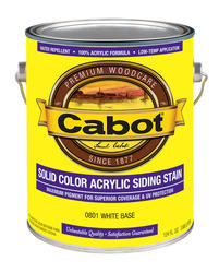 Cabot White Base Solid Color Acrylic Siding Stain - 1 gal.