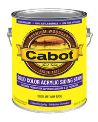 Cabot Medium Base Solid Color Acrylic Siding Stain - 1 gal.