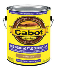 Cabot New Cedar Solid Color Acrylic Siding Stain - 1 gal.