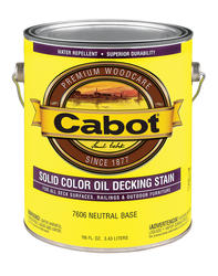 Cabot Neutral Base Low-VOC Solid Color Oil Decking Stain - 1 gal.