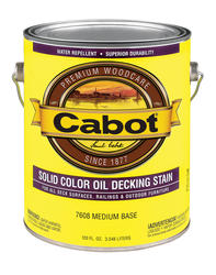 Cabot Medium Base Low-VOC Solid Color Oil Decking Stain - 1 gal.