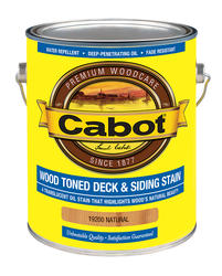 Cabot Natural Low-VOC Wood Toned Deck & Siding Stain - 1 gal.