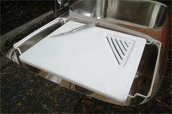 "Vance 12"" x 13"" Adjustable Over-the-Sink Poly Cutting Board"