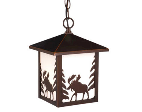 Pendant lighting at menards : Yellowstone light quot burnished bronze outdoor pendant