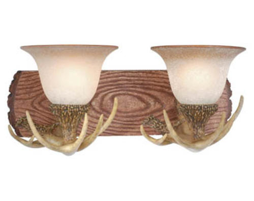 Vanity Lights Stone : Lodge 2-Light 18