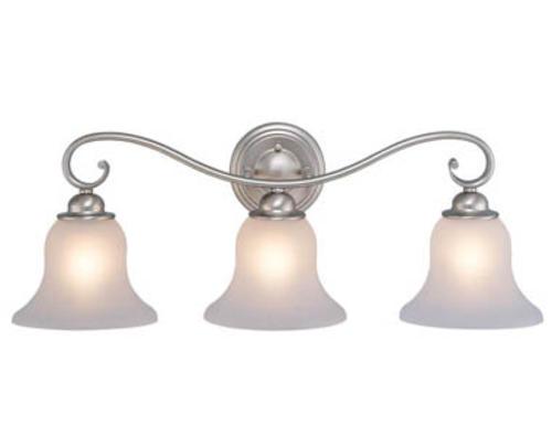 monrovia 3 light 26 brushed nickel vanity light at menards