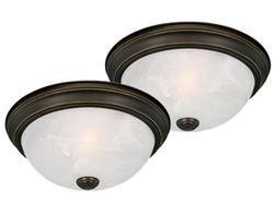 """Stella 2-Pack 1-Light 11"""" Oil Rubbed Bronze Ceiling Light"""