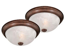 "Stella 2- Pack 1-Light 11"" Weathered Patina Ceiling Light"