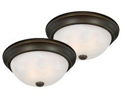 """Stella 2-Pack 2-Light 13"""" Oil Rubbed Bronze Ceiling Light"""