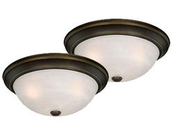 "Stella 2-Pack 3-Light 15"" Oil Rubbed Bronze Ceiling Light"