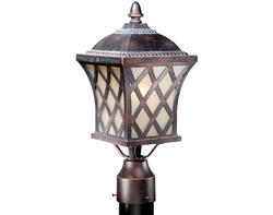 "Yorkshire 1-Light 17"" Coffee Patina Outdoor Post Light"