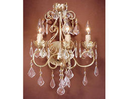 "Newcastle 3-Light 13"" Gilded White Gold Wall Light"