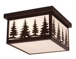 "Yosemite 2-Light 11.5"" Burnished Bronze Outdoor Ceiling Light"