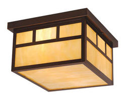 "Mission 2-Light 11.5"" Burnished Bronze Outdoor Ceiling Light"