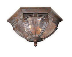 "Essex 2-Light 13"" Royal Bronze Outdoor Ceiling Light"