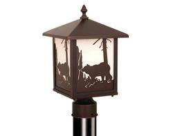 "Bozeman 1-Light 14"" Burnished Bronze Outdoor Post Light"