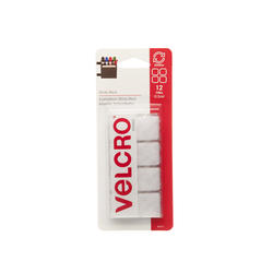 "VELCRO® Brand Sticky Back™ 7/8"" White Square Fasteners (12-Pack)"
