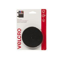 """VELCRO® Brand Sticky Back™ 5' x 3/4"""" Black Fastener Tape with Dispenser"""