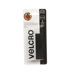 """VELCRO® Brand 3.5"""" x 1.5"""" Black Plastic Surface Fastener Strips (2-Pack)"""