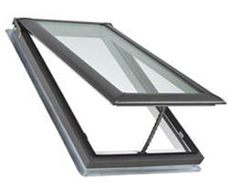 "Velux® 21"" x 37-7/8"" Tempered Glass Deck Mount Vented Skylight"