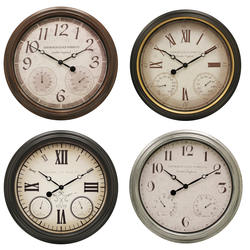 Edinburgh Designs Wall Clock with Thermometer and Hygrometer (Assorted Styles)