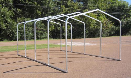 Steel Building Frame Only : W l h storage shelter frame
