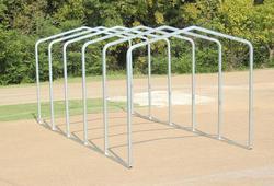 10'W x 22.5'L x 9.5'H Storage Shelter Frame