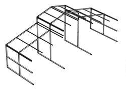 36'W x 12'L x 13'H/8'H Horse Barn Frame Extension Kit