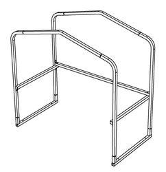 "8'W x 4'L x 6'9""H Cart Corral Frame"