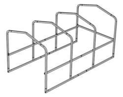 "8'W x 15'-2""L x 6'9""H Cart Corral Frame"