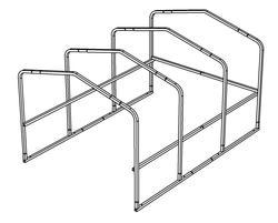 "10'W x 14'L x 6'9""H Cart Corral Frame"