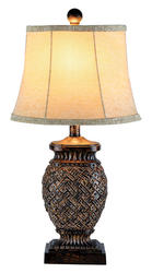 "Patriot Lighting  24"" Antique Bronze Collin Table Lamp"
