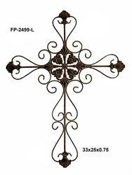 """25"""" x 33"""" Metal Cross Sculpture"""
