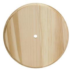 Walnut Hollow Solid Wood Round Clock