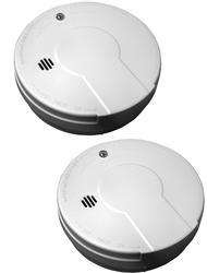 Kidde Twin Pack Basic Battery Operated Smoke Alarm