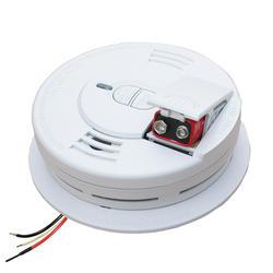 FireX AC/DC Wire-In Front Battery Door Smoke Alarm