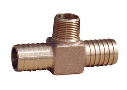 Water Source -  1 in. X 1 in. X 1 in. Brass Yard Hydrant Tee