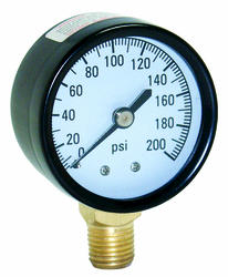Water Source -  200 PSI Pressure Gauge with 1/4 in. Lower Connection