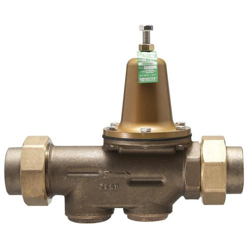 3 4 lead free brass water pressure reducing valve bypass double union 50 psi adjustable 25. Black Bedroom Furniture Sets. Home Design Ideas