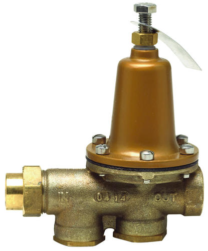 3 4 lead free brass water pressure reducing valve bypass solder union. Black Bedroom Furniture Sets. Home Design Ideas