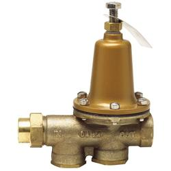 3/4 IN Lead Free Water Pressure Reducing Valve, NPT Female Union x NPT Female, Polymer Seat, Adjustable 25-75 PSI
