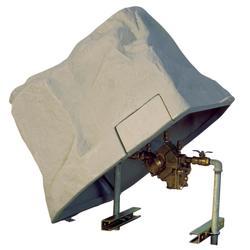 "45"" x 14"" x 28"" Brown Protective Backflow Prevention or Pressure Vacuum Breaker Enclosure, No Insulation, No Heat"