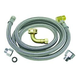 """48"""" Universal Dishwasher installation Kit With 3/8"""" x 3/4"""" Compression Elbow"""