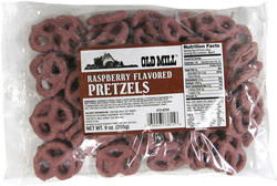 Old Mill Raspberry-Flavored Pretzels - 9 oz.