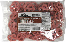 Old Mill Strawberry-Flavored Pretzels - 9 oz.