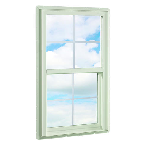 Crestline 250 vinyl single hung window w zo e5 gia glass for Vinyl insulated windows