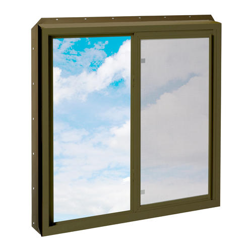 Crestline 250 new construction 36 x 30 terra bronze for Vinyl insulated windows