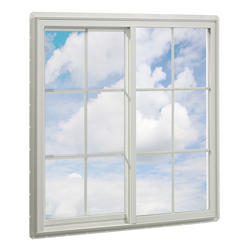 "Crestline 200 New Construction 48"" x 36"" Vinyl Single Slider Window with Zo-E-Shield Insulated Glass and Grilles in Airspace"