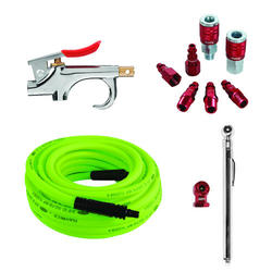 "Flexzilla® 10 Piece Air Compressor Kit with 3/8"" x 50' Air Hose"